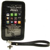 iPhone 5 Wristlet With Cross, Black Croc