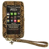 iPhone 5 Wristlet With Cross, Brown, Black, Taupe