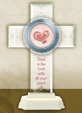 Trust in the Lord Pedestal Cross
