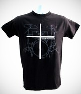 Stick With Jesus Shirt, Black, Large