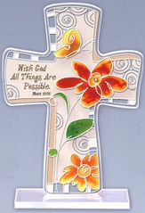 With God All Things are Possible Cross