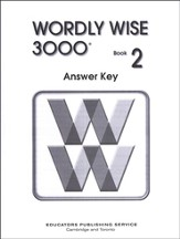 Wordly Wise 3000, Grade 2, Answer Key for Student Text
