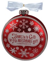 Thanks be to God Glass Ornament
