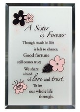 Sister is Forever Mirror Plaque