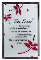 True Friend Mirror Plaque