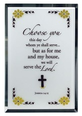 Joshua 24:15 Mirror Plaque