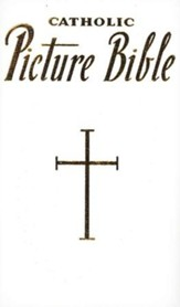 New Catholic Picture Bible, White Bonded Leather  - Imperfectly Imprinted Bibles