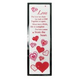 Love Mirror Plaque, with Rhinestones