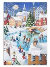 Traditional Winter Scene Advent Calendar