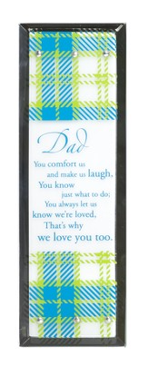 Dad, Vertical Mirror Plaque