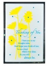 Thinking of You Mirror Plaque, with Rhinestones