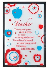 Teacher Mirror Plaque, with Rhinestones