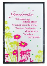 Grandmother Mirror Plaque, with Rhinestones