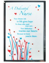 A Dedicated Nurse Mirror Plaque, with Rhinestones