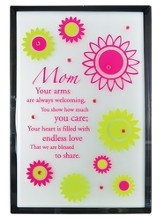 Mom Mirror Plaque, with Rhinestones