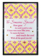 Someone Special Mirror Plaque, with Rhinestones