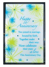 Happy Anniversary Mirror Plaque, with Rhinestones