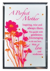 A Perfect Mother Mirror Plaque, with Rhinestones