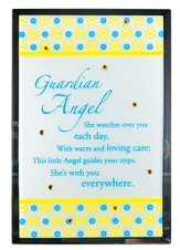 Guardian Angel Mirror Plaque, with Rhinestones