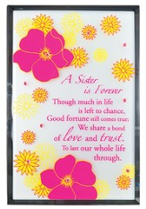 A Sister Is Forever Mirror Plaque, with Rhinestones