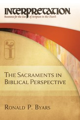 The Sacraments in Biblical Perspective - eBook