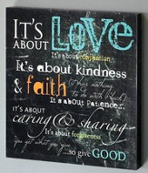 It's About Love Canvas Wall Art