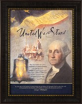 United We Stand George Washington Framed Print