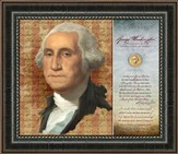 George Washington, First Official, Framed Art