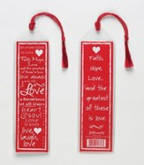 Love Bookmark, Red