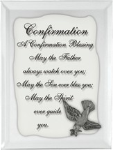 Confirmation Mirrored Plaque