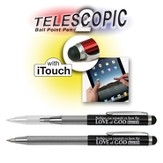 Telescopic Pen with Touch Screen Stylus, Black