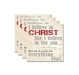 I Believe In Christ Coaster Set of 4