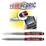 Telescopic Pen with Touch Screen Stylus, Red