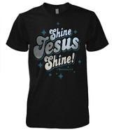 Shine Jesus Shirt, Black, Medium