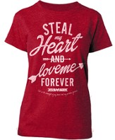 Steal My Heart Shirt, Red, Small