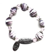My Mother My Angel Bracelet, Amethyst and White