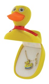 Duck Necklace with Cross Charm
