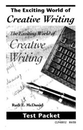 The Exciting World of Creative Writing, Test