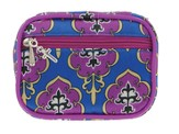 Pillbox with Cross Charm, Purple and Blue