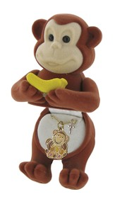 Monkey Necklace with Cross Charm