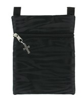 Crossover Purse, with Cross Charm, Black