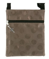 Crossbody Purse, with Cross Charm, Brown