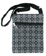 Crossover Purse, with Cross Charm, Gray