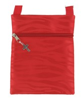 Crossbody Purse, with Cross Charm, Red
