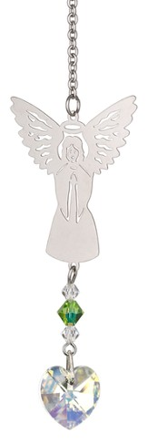 Birthstone Angel Suncatcher, August