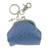 Coin Purse, with Cross Charm, Blue
