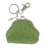 Coin Purse, with Cross Charm, Green