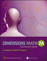 Dimensions Math CC Textbook 7A