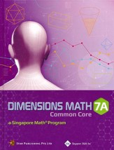 Dimensions Math CCSS Textbook 7A (Hardcover)