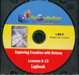 Exploring Creation with Botany Lessons 6-13 Lapbook CD-Rom